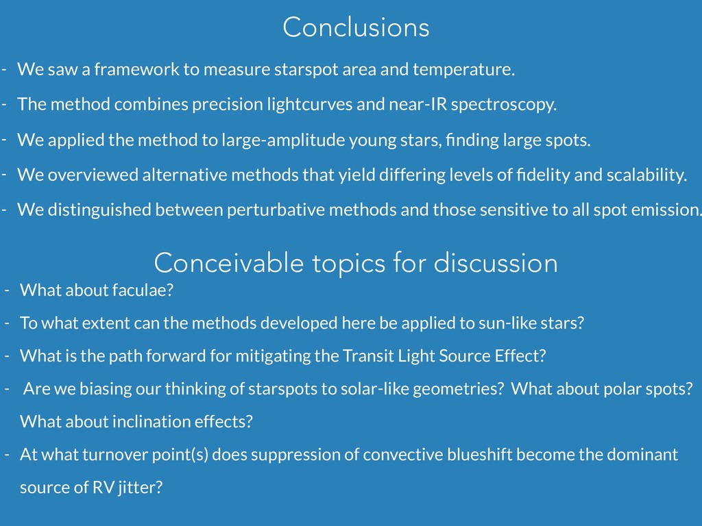 Conclusions - We saw a framework to measure sta...