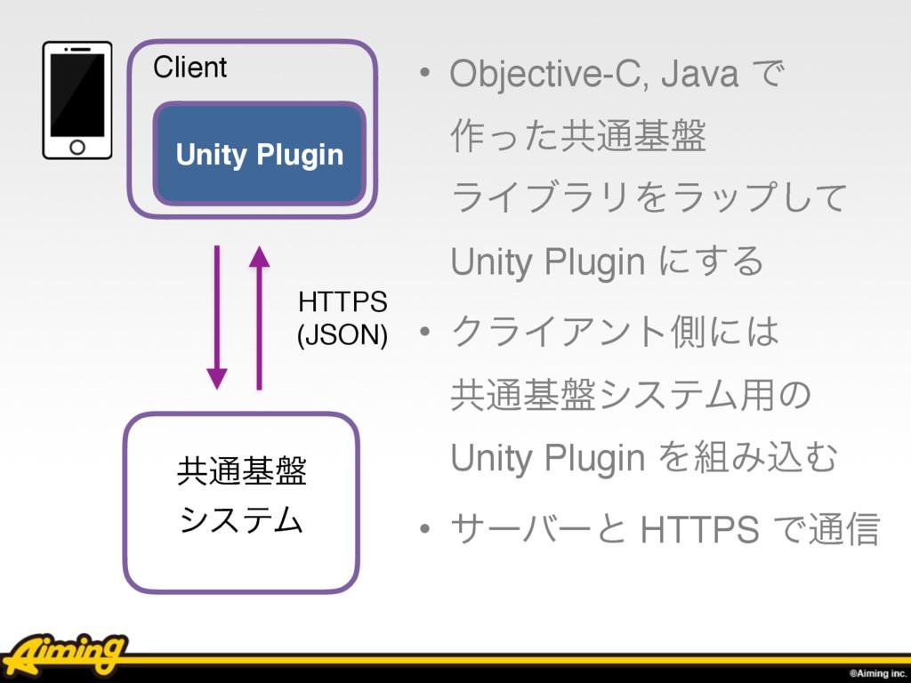 • Objective-C, Java Ͱ  ࡞ͬͨڞ௨ج൫ ϥΠϒϥϦΛϥοϓͯ͠ Un...