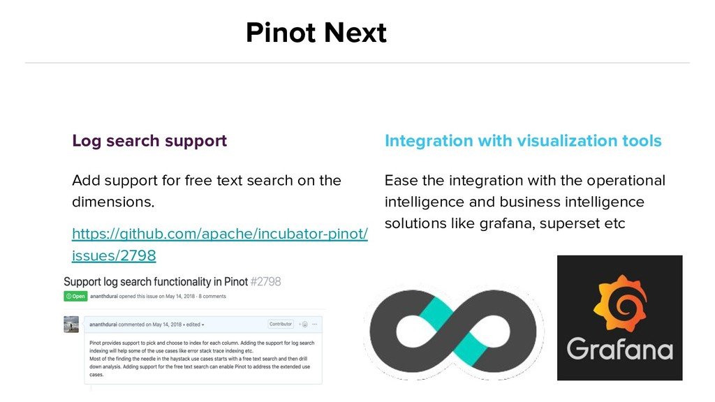 Pinot Next Log search support Add support for f...