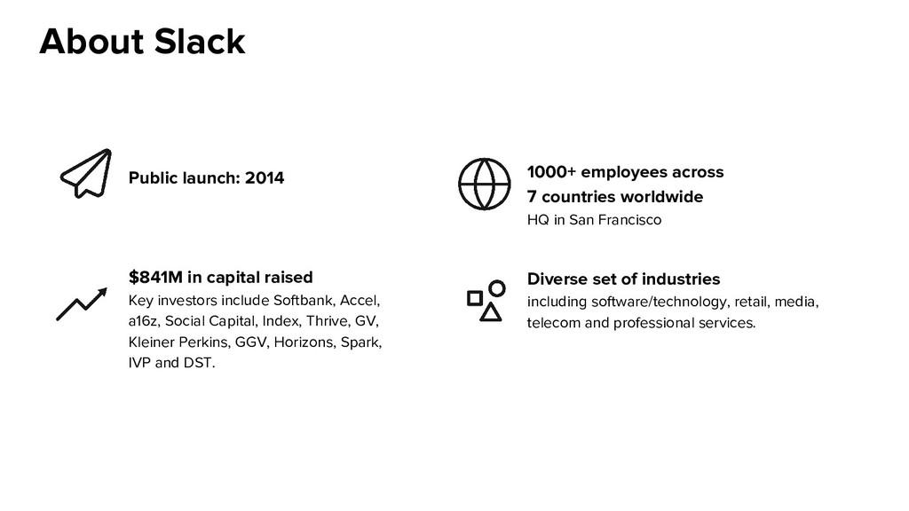 Public launch: 2014 1000+ employees across 7 co...
