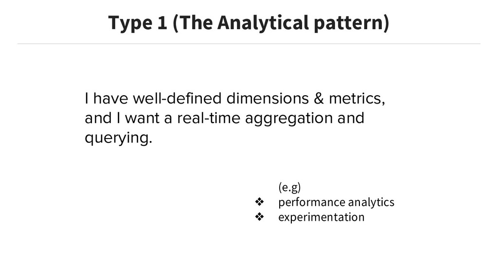 I have well-defined dimensions & metrics, and I...