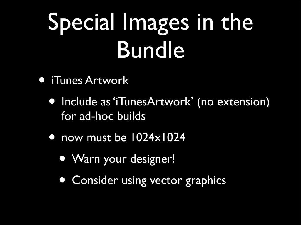 Special Images in the Bundle • iTunes Artwork •...