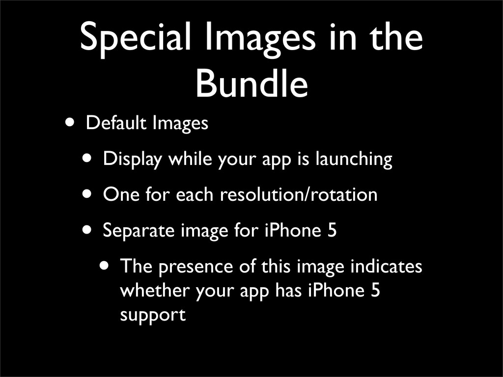 Special Images in the Bundle • Default Images •...