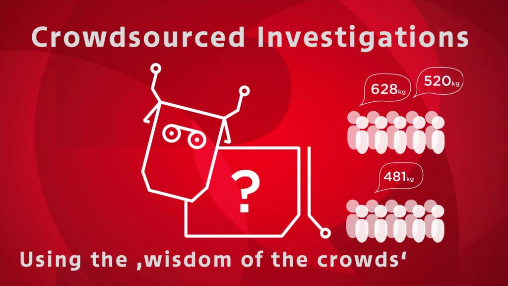 Crowdsourced Investigations Using the 'wisdom o...