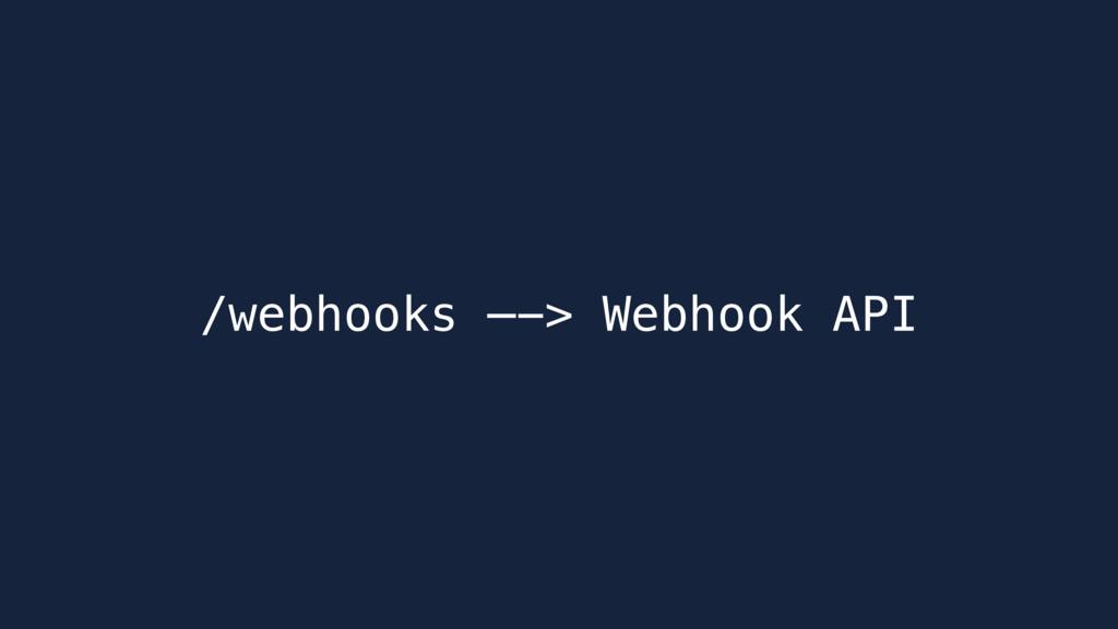 /webhooks —-> Webhook API