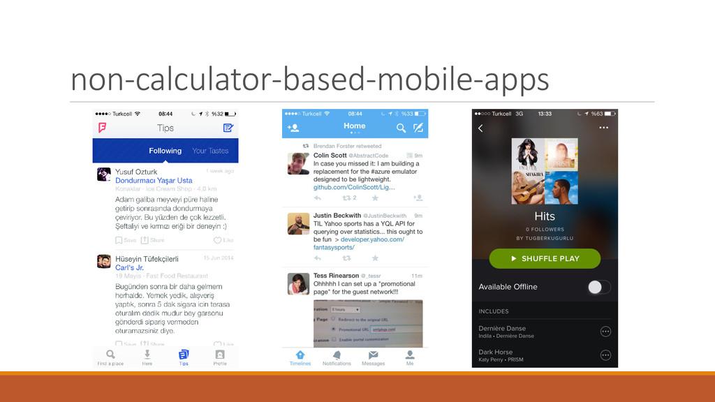 non-calculator-based-mobile-apps