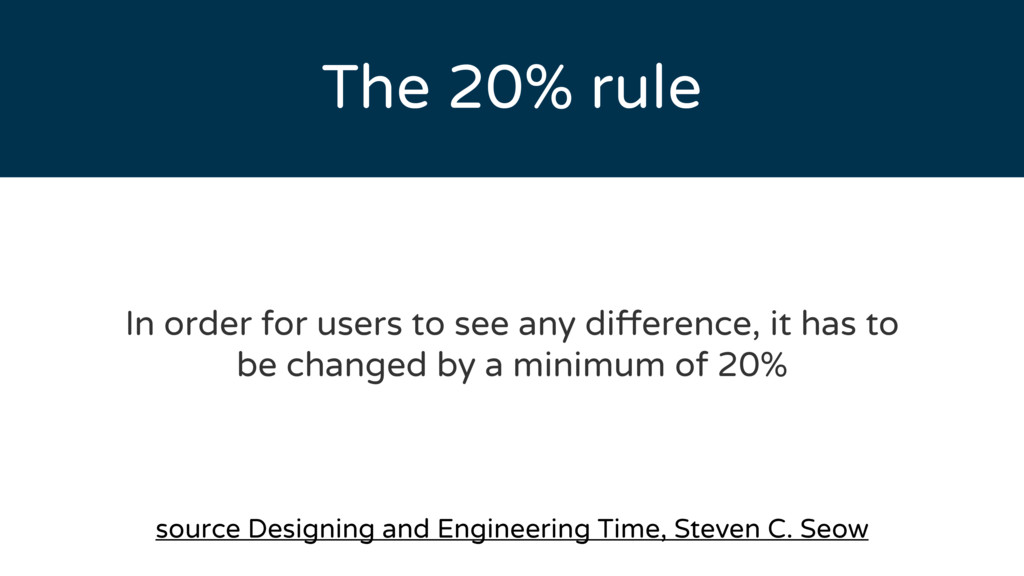 The 20% rule source Designing and Engineering T...