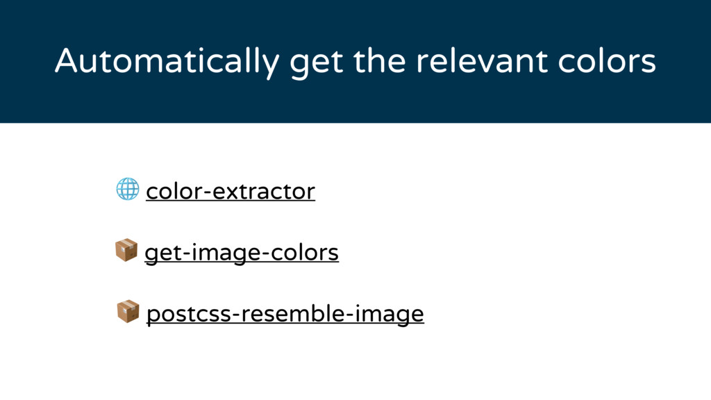 Automatically get the relevant colors  color-ex...