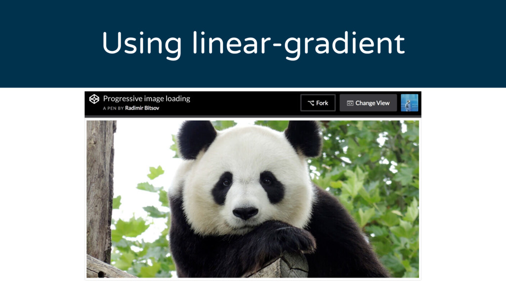 Using linear-gradient
