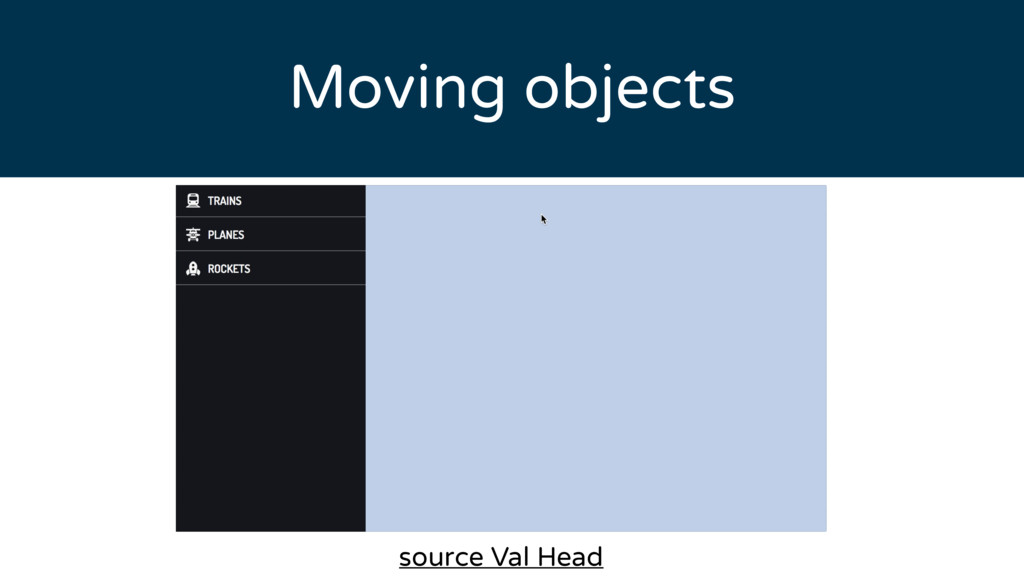 Moving objects source Val Head