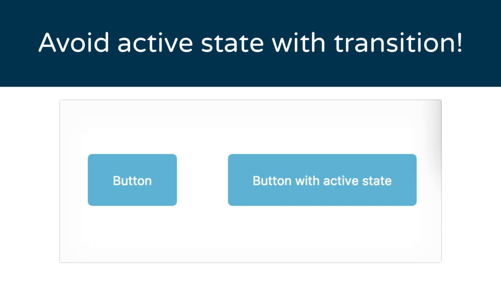 Avoid active state with transition!