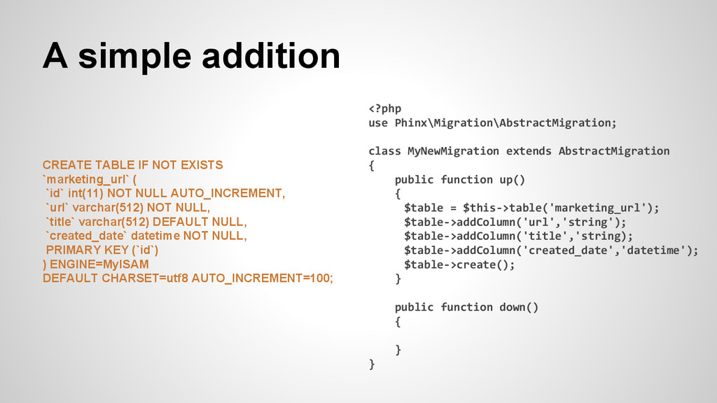 A simple addition CREATE TABLE IF NOT EXISTS `m...