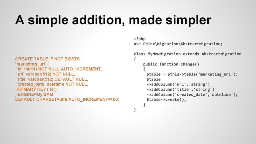 A simple addition, made simpler CREATE TABLE IF...