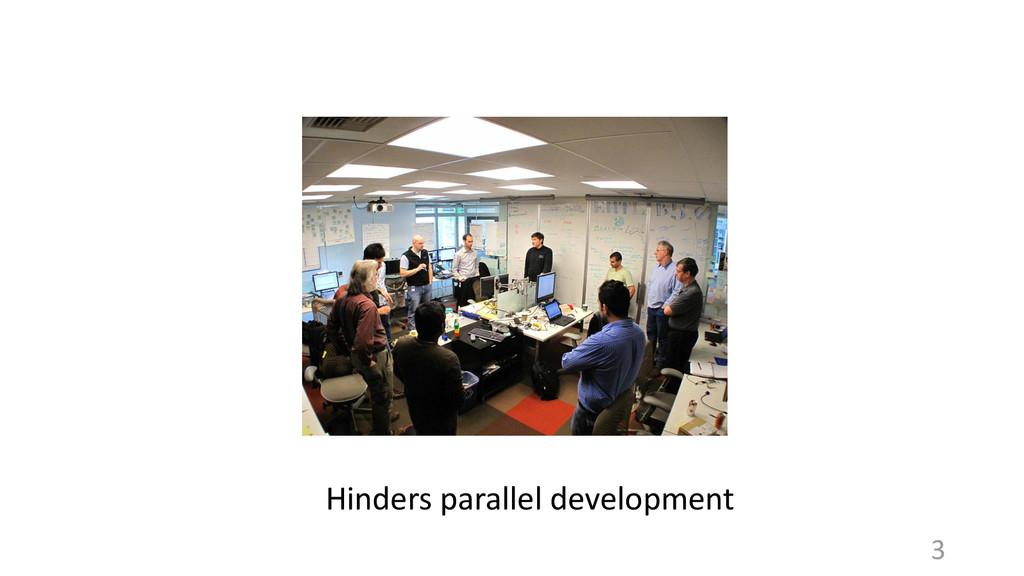 Hinders parallel development 3