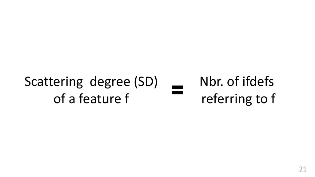 Scattering degree (SD) of a feature f Nbr. of i...