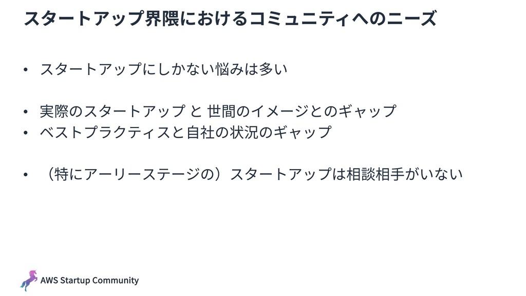 AWS Startup Community スタートアップ界隈におけるコミュニティへのニーズ ...