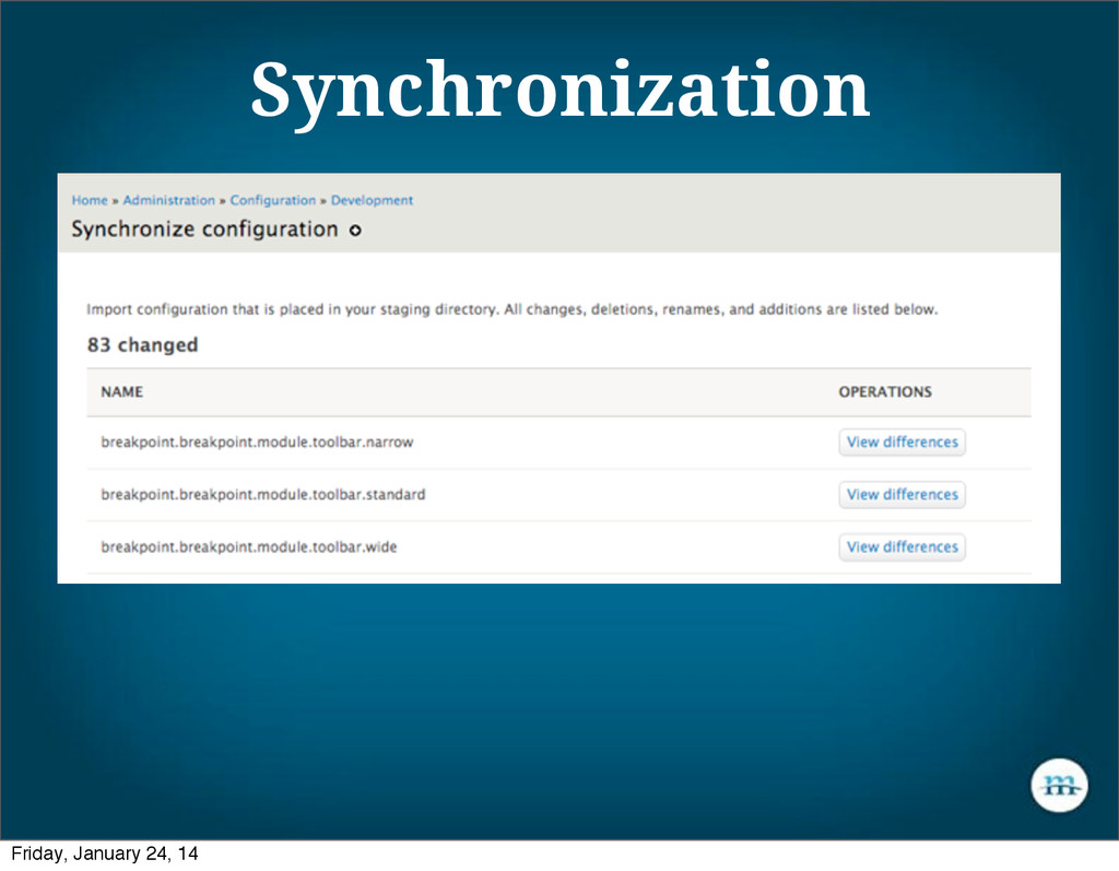Synchronization Friday, January 24, 14