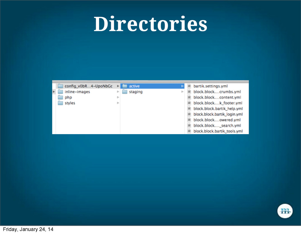 Directories Friday, January 24, 14