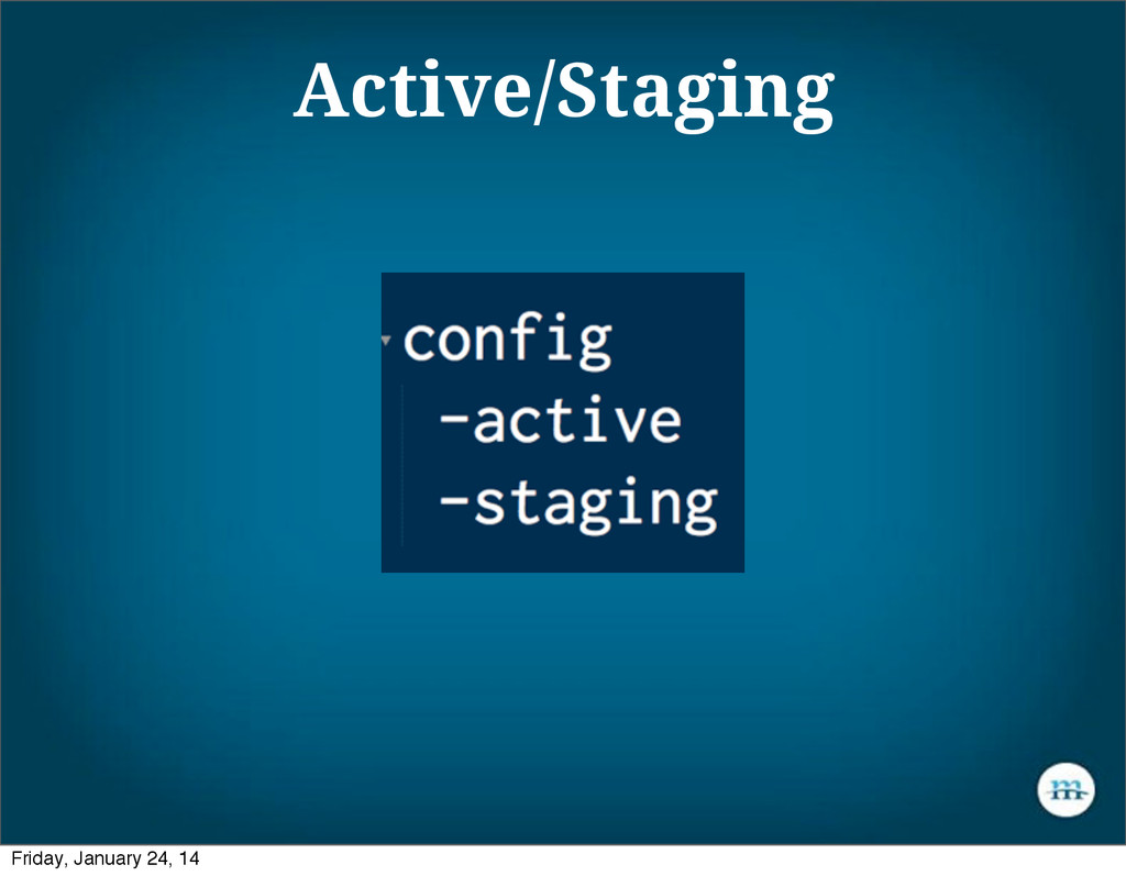 Active/Staging Friday, January 24, 14