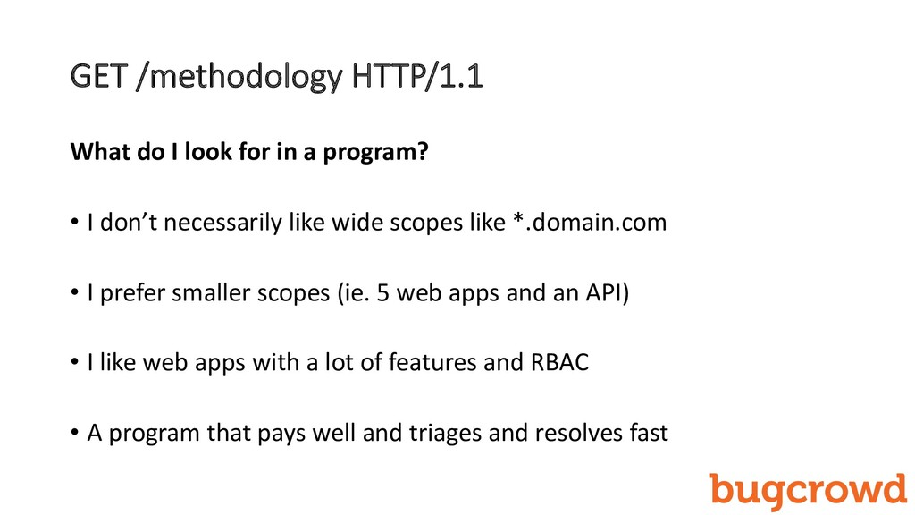 GET /methodology HTTP/1.1 What do I look for in...