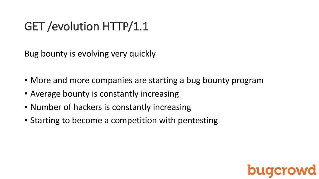 GET /evolution HTTP/1.1 Bug bounty is evolving ...