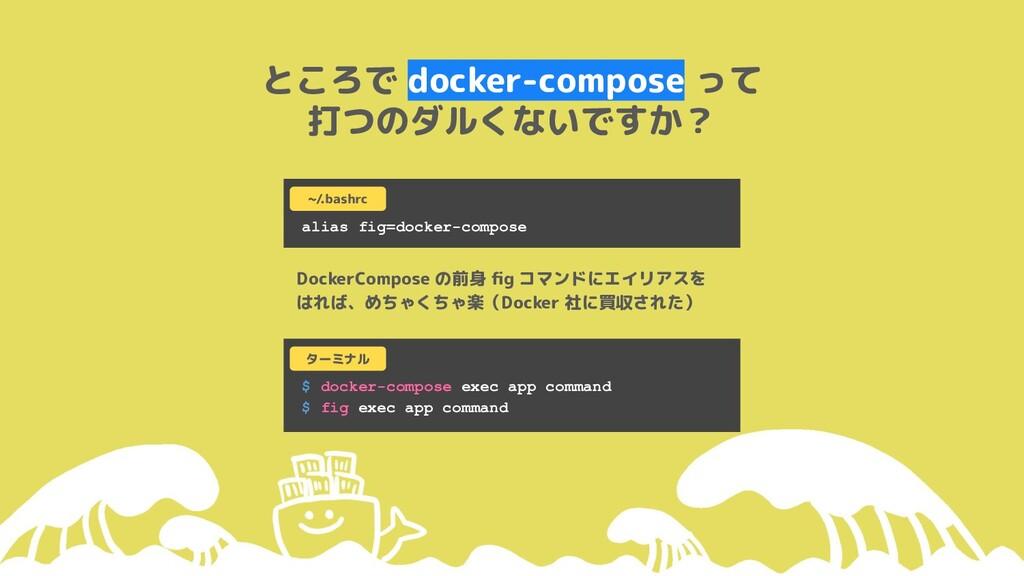 ところで docker-compose って 打つのダルくないですか? alias fig=d...