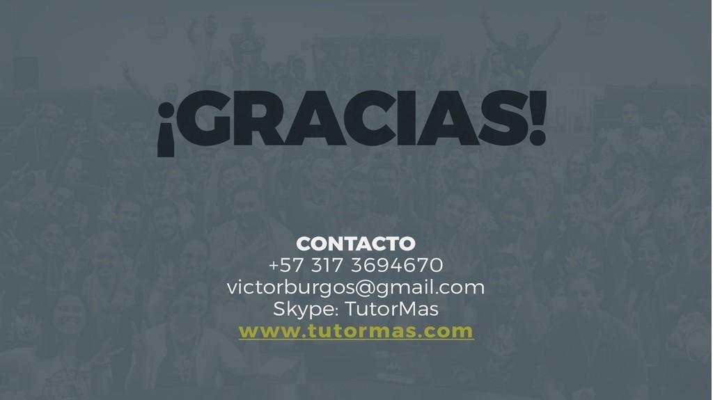 CONTACTO +57 317 3694670 victorburgos@gmail.com...