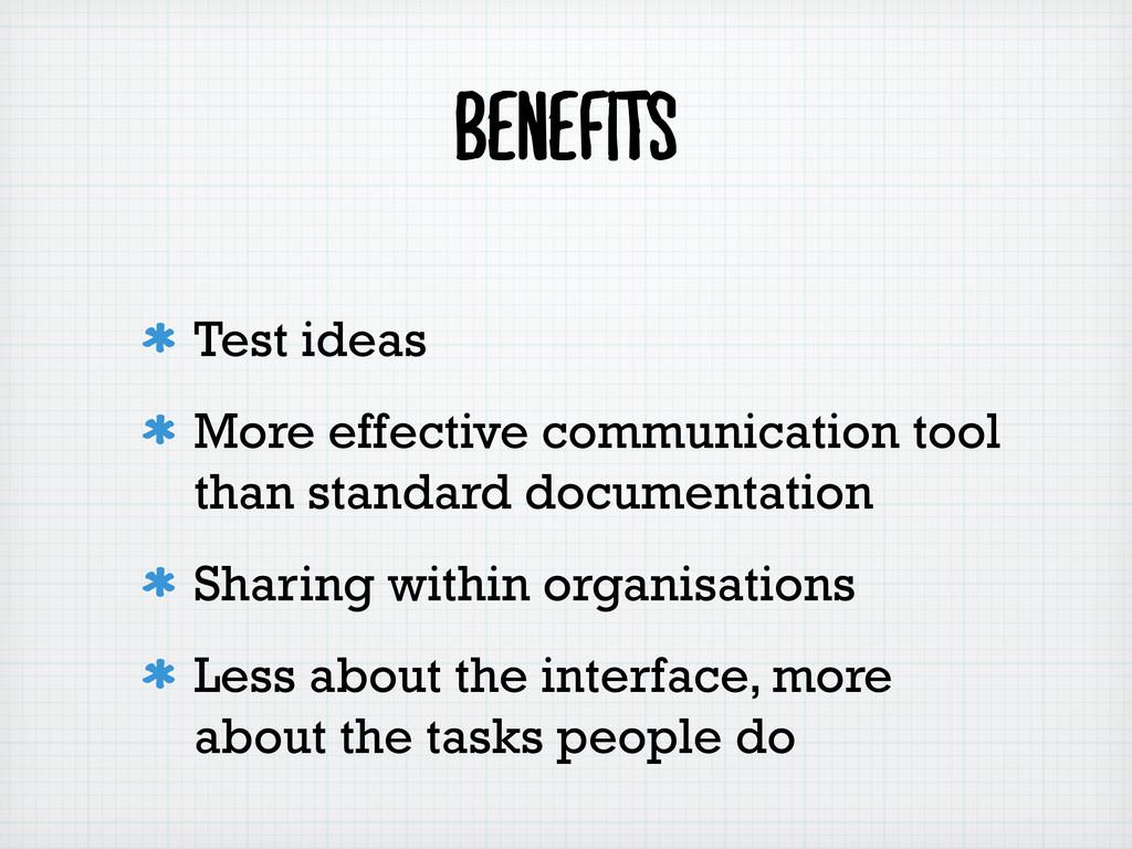 Benefits Test ideas More effective communicatio...