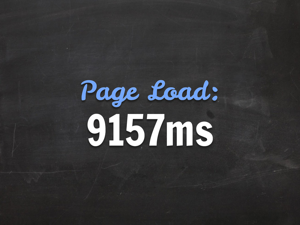 9157ms Page Load: