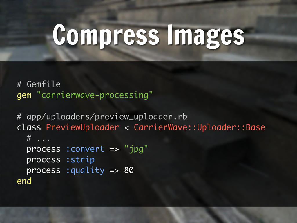 "# Gemfile gem ""carrierwave-processing"" # app/up..."