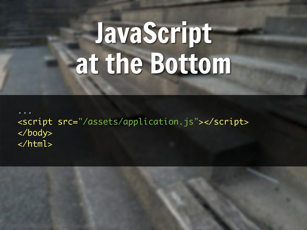 """... <script src=""""/assets/application.js""""></scri..."""