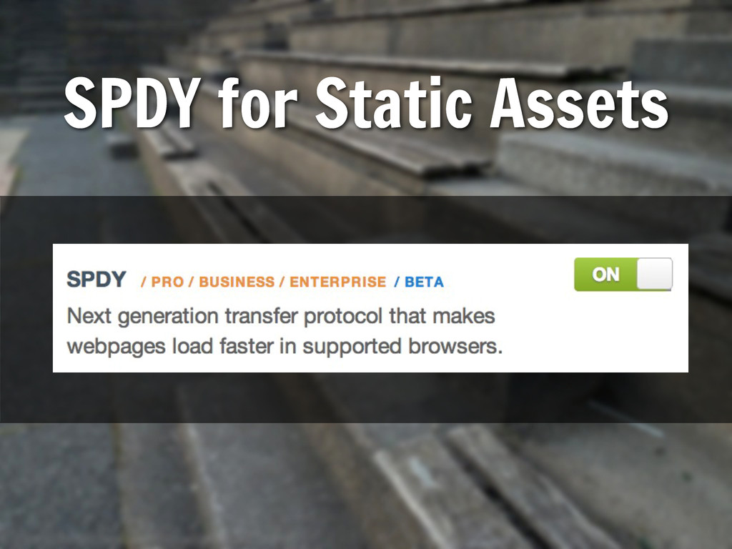 SPDY for Static Assets