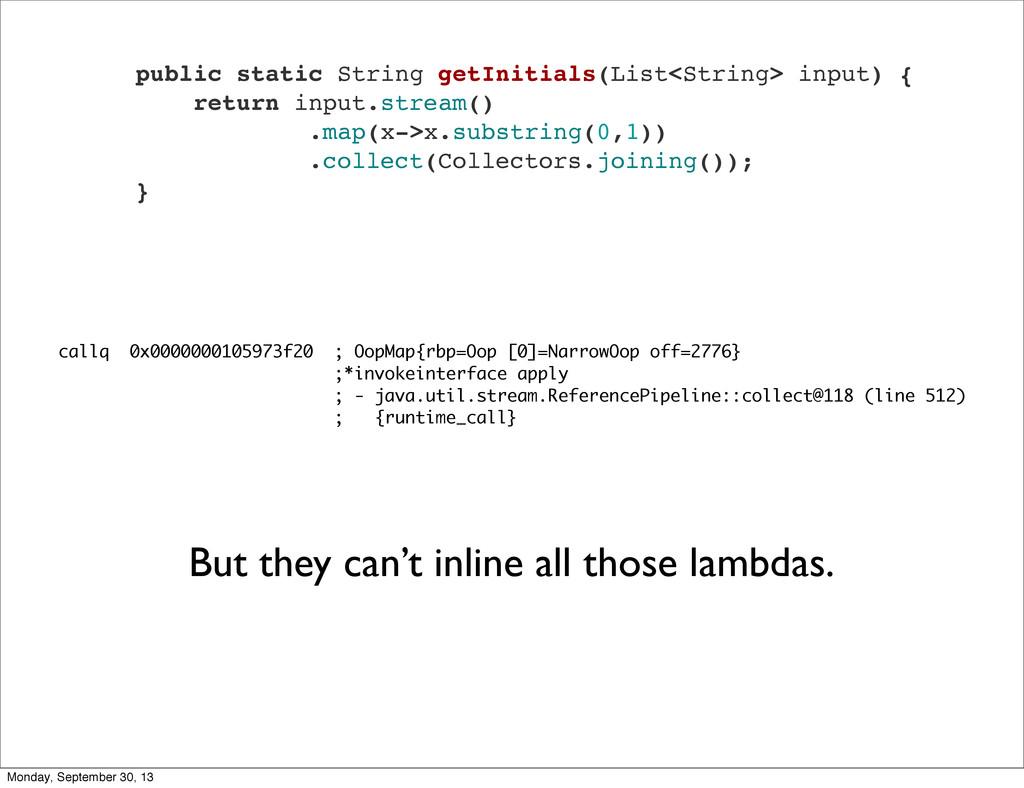 public static String getInitials(List<String> i...