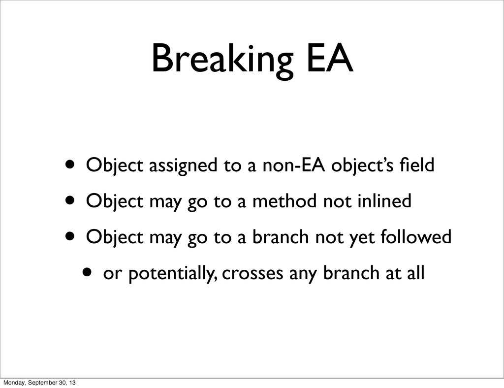 Breaking EA • Object assigned to a non-EA objec...