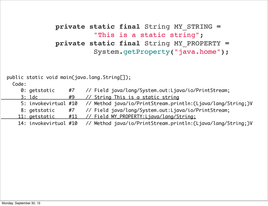 public static void main(java.lang.String[]); Co...