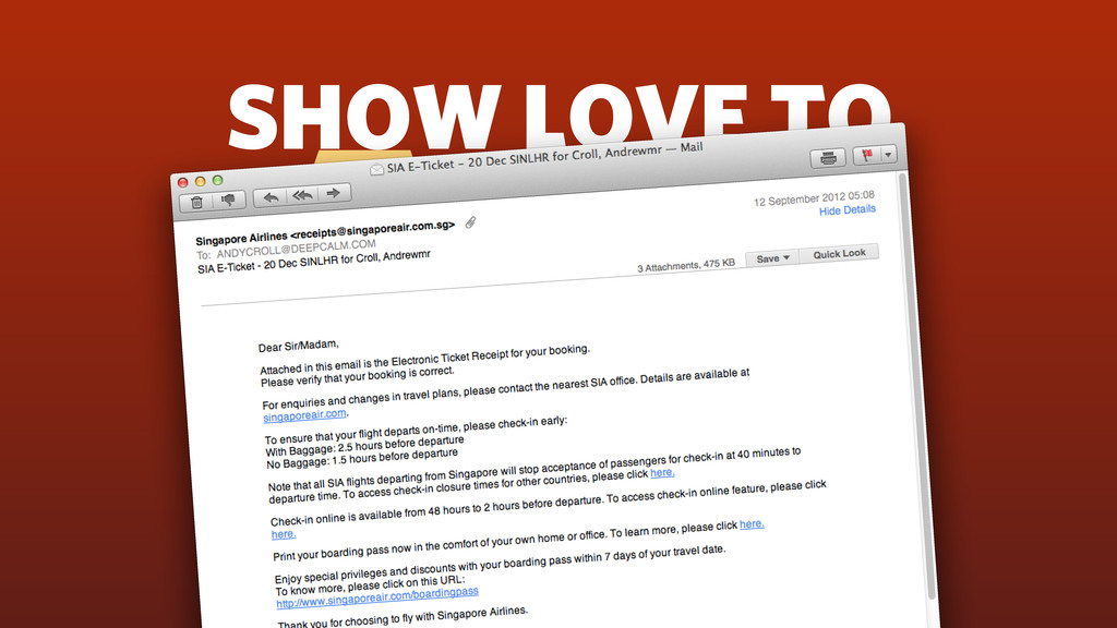 ALL OF THE EMAILS NOT JUST MARKETING SHOW LOVE ...