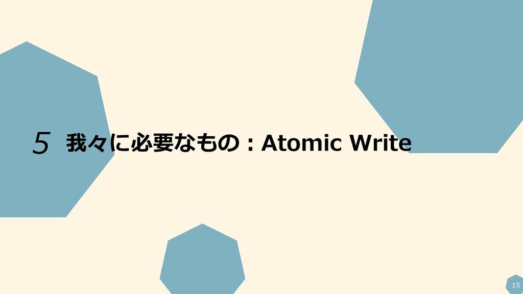 15 我々に必要なもの:Atomic Write 5