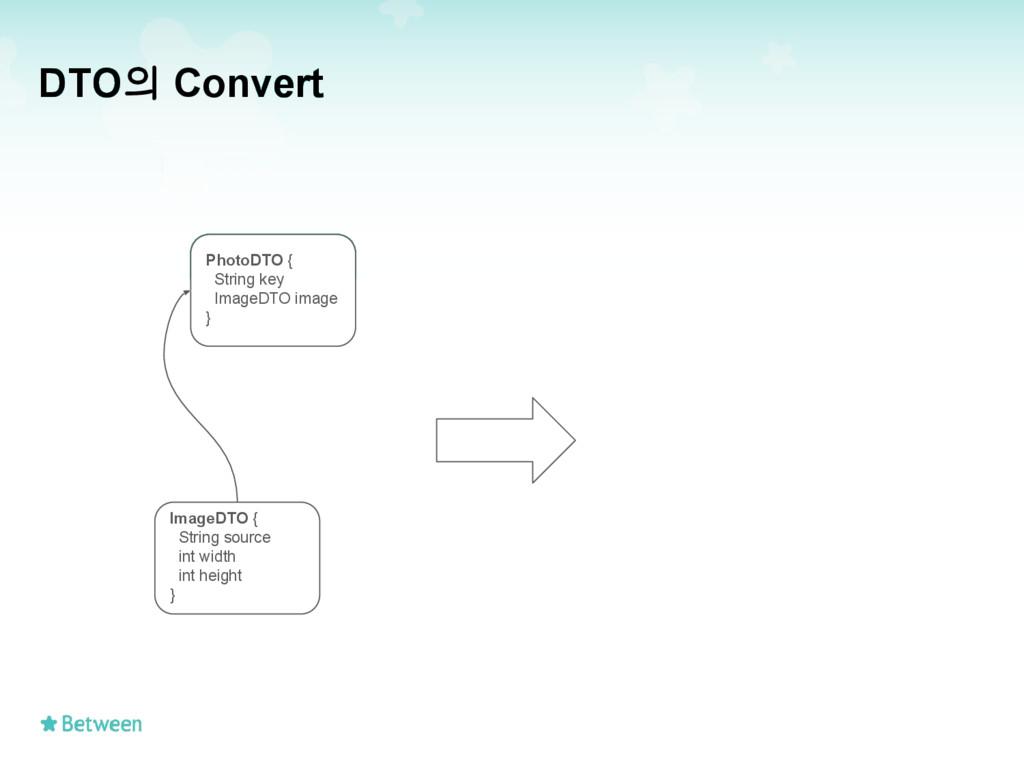 DTO의 Convert PhotoDTO { String key ImageDTO ima...