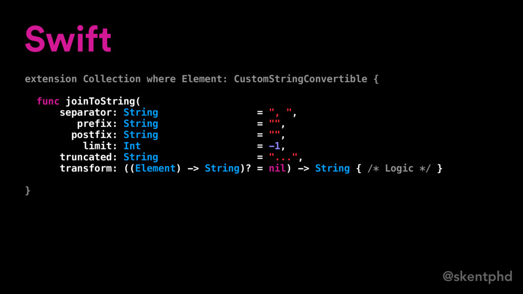 @skentphd Swift extension Collection where Elem...