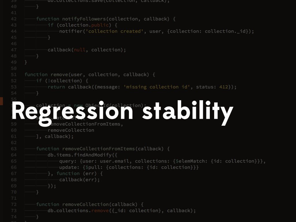 Regression stability