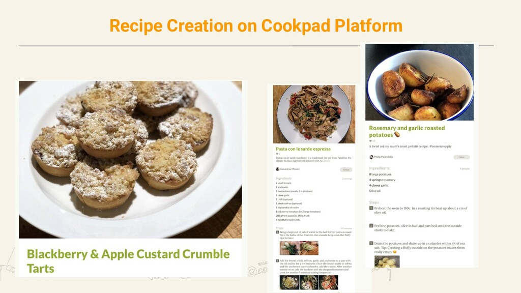 Recipe Creation on Cookpad Platform