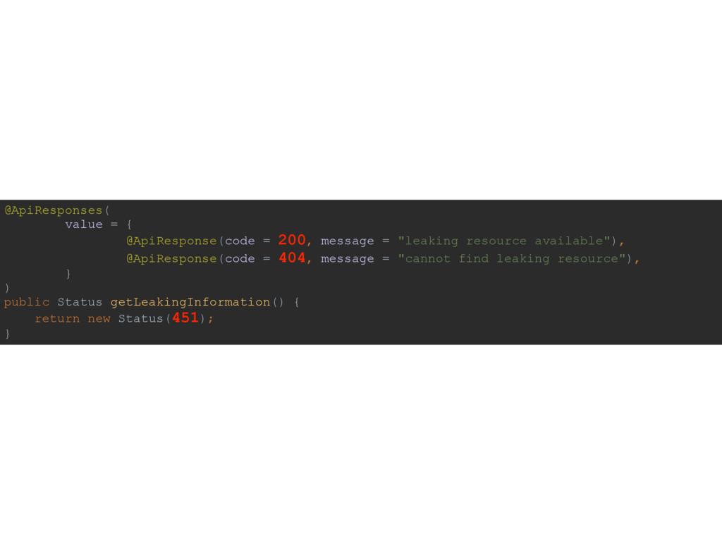 @ApiResponses( value = { @ApiResponse(code = ...