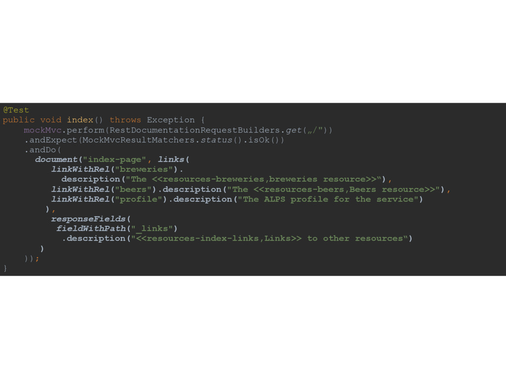 @Test public void index() throws Exception { ...