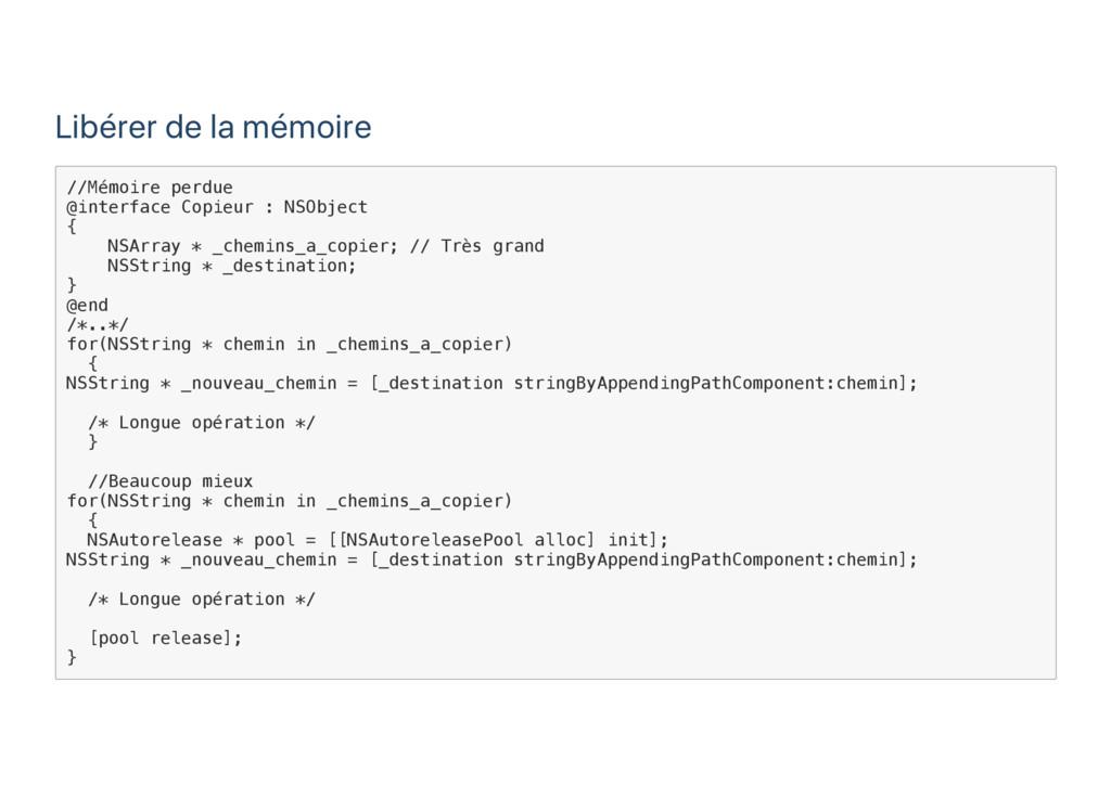 Libérer de la mémoire / / M é m o i r e p e r d...