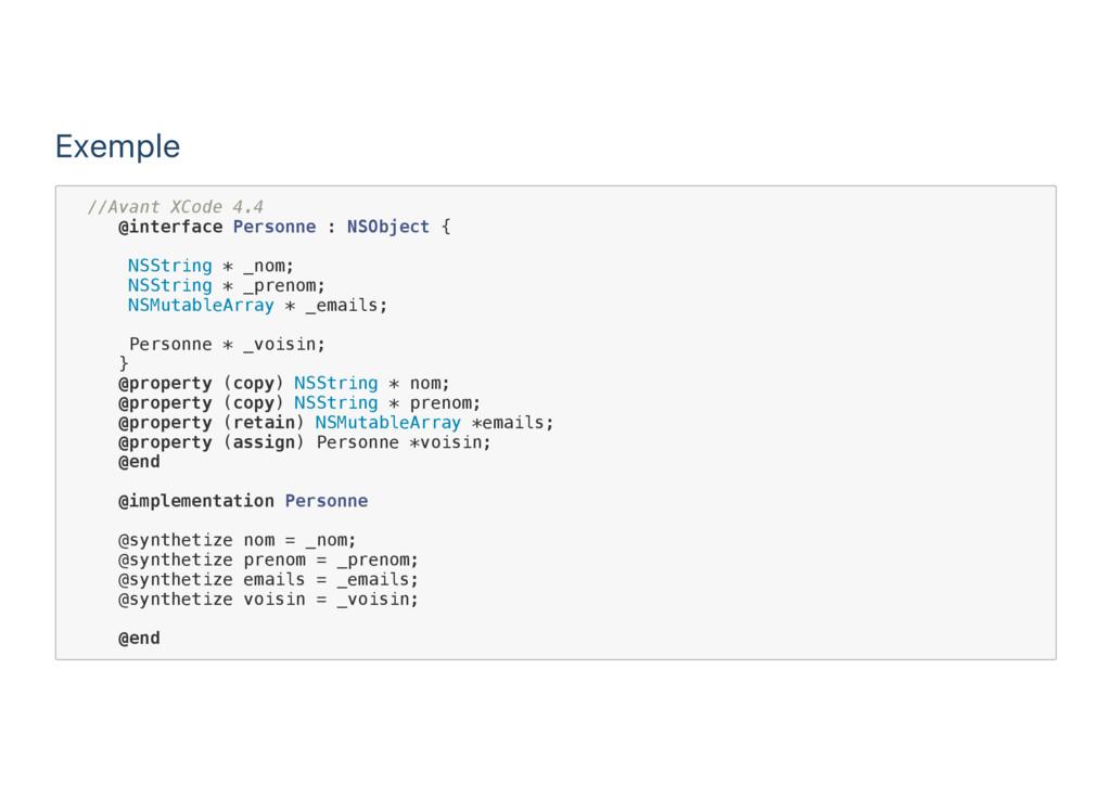 Exemple / / A v a n t X C o d e 4 . 4 @ i n t e...