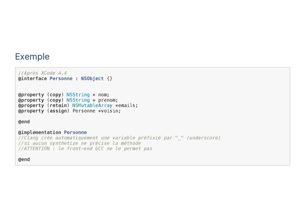 Exemple / / A p r è s X C o d e 4 . 4 @ i n t e...