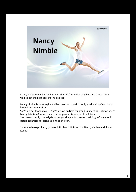 Nancy is always smiling and happ...