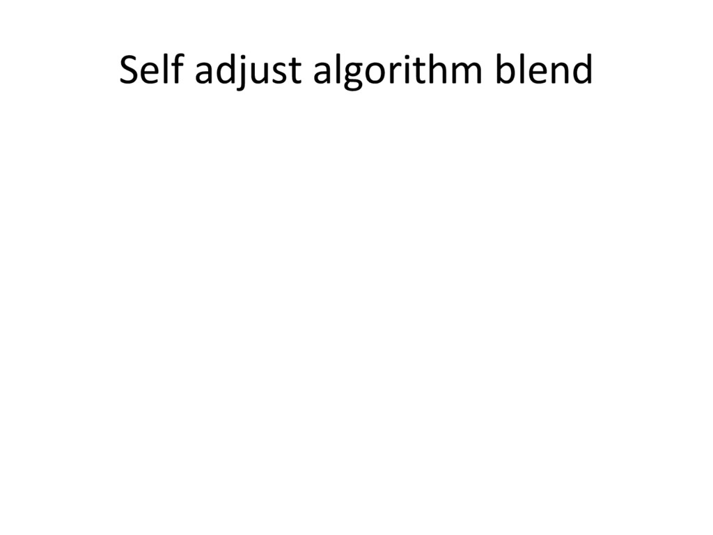 Self adjust algorithm blend