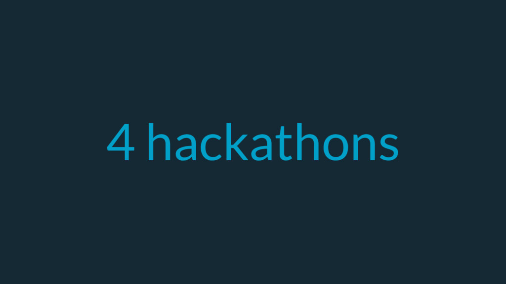 4 hackathons