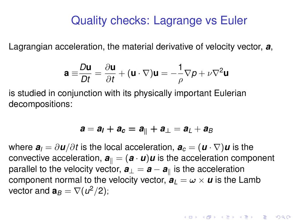 Quality checks: Lagrange vs Euler Lagrangian ac...